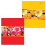 Тетрадь 48л. BRAUBERG ЭКО клетка, обл. мел. карт., вн. блок офсет, Цветы, 401283