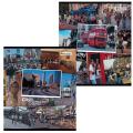 Тетрадь 96 л. BRAUBERG (БРАУБЕРГ) офсет, 60 г/м, клетка, обложка мелованный картон, «Города», 2 вида