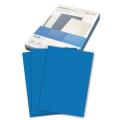 Обложки для переплета GBC(ДжиБиСи), КОМПЛЕКТ 100шт, LeatherGrain (тисн.под кожу), A4, синие, CE040020