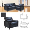 Кресло «Наполи», 800-900-800 мм, c подлокотниками, экокожа, черное