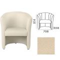 Кресло «Club», 814-708-658 мм, c подлокотниками, кожзам, бежевое