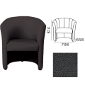 Кресло «Club», 814-708-658 мм, c подлокотниками, кожзам, черное