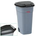 Контейнер для мусора 110 л + КРЫШКА, 84-54-58 см, на колесах