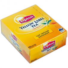 Чай LIPTON «Yellow Label», черный, 100 пакетиков с ярлычками по 2 г
