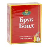Чай BROOKE BOND, черный, 100 пакетиков с ярлычками по 1,8 г