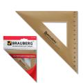 Треугольник пластик 45*16,5 см, BRAUBERG, тонированный, прозрачный, европодвес, 210304