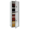 Шкаф металлический для документов ПРАКТИК «SL-150/2Т», 1490-460-340 мм, 2 отделения, 42 кг, сварной