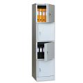 Шкаф металлический офисный ПРАКТИК «AM-1845/4», 1830-472-458 мм 4 отделения, 38 кг, разборный