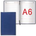 "Ежедневник BRAUBERG недатированный А6 100*150мм ""Select"", под зернистую кожу, 160л., темно-синий, 123481"