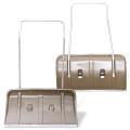 Лопата-скребок (скрепер) на колесах, пластик, 82-45 см, высота 120 см, с металлической ручкой, №8