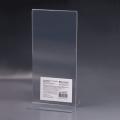 Подставка для рекламных материалов BRAUBERG (БРАУБЕРГ), 1/3 А4, вертикальная, 100-210 мм, настольная, двусторонняя, оргстекло