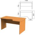 Стол письменный эргономичный «Фея», 1400-900-750 мм, правый, цвет орех милан, СФ08.5