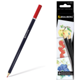 """Карандаши цветные BRAUBERG """"Artist line"""", 6 цв, черный корпус, заточенные, высшее качество, 180526"""