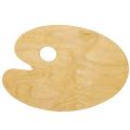 Палитра для рисования, деревянная, овальная, 20-30 см, толщина 3 мм