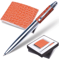 "Набор GALANT ""Prestige Collection"": ручка, визитница, коричневый ""крок.кожа"", подар.кор., 141378"