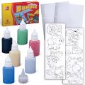 Набор для творчества ЛУЧ, краски по стеклу «Витраж»: 6 цветов, 135 г, шаблоны-рисунки