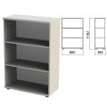 Шкаф (стеллаж) «Этюд», 800-384-1182 мм, 2 полки, серый