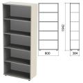 Шкаф (стеллаж) «Этюд», 800-384-1942 мм, 4 полки, серый