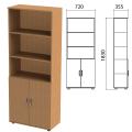 Шкаф полузакрытый «Эко», 720-355-1830 мм, 2 двери, 4 полки, бук бавария
