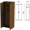 Шкаф для одежды «Эко», 720-355-1830 мм, орех
