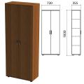 Шкаф закрытый «Эко», 720-355-1830 мм, 2 двери, 4 полки, орех