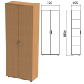 Шкаф закрытый «Эко», 720-355-1830 мм, 2 двери, 4 полки, бук бавария