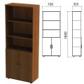 Шкаф полузакрытый «Эко», 720-355-1830 мм, 2 двери, 4 полки, орех