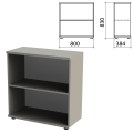 Шкаф (стеллаж) «Этюд», 800-384-830 мм, полка, серый