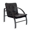 Кресло «Аксель», 610-720-720 мм, на металлическом каркасе, кожзам, черное