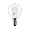 Лампа накаливания PHILIPS P45 CL E14, 60 Вт, шарообразная, прозрачная, колба d = 45 мм, цоколь E14