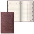Телефонная книжка А7, 80-130 мм, 56 л., BRAUBERG (БРАУБЕРГ) ВЫРУБНОЙ АЛФАВИТ, «Cayman» («Кайман»)