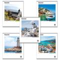 Тетрадь 96 л. BRAUBERG «Pro» (БРАУБЕРГ «Про»), офсет 60 г/м, клетка, обложка мелованный картон, «Vacation» («Каникулы»), 5 видов
