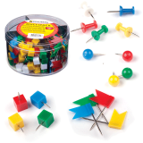 Набор BRAUBERG силовые кнопки 60шт, шарики 60шт, кубики 60шт, флажки 60шт, цилиндр, 223518