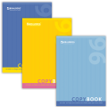 Тетрадь 96 л. А4 BRAUBERG «Pro» (БРАУБЕРГ «Про»), офсет 60 г/м<sup>2</sup>, клетка, обложка мелованный картон, OneColour (Один цвет), 3 вида