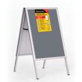 Рамка-штендер для рекламы и объявлений BRAUBERG (БРАУБЕРГ), напольная, А1, 594-841 мм, двухсторонняя, складная
