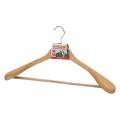 Вешалка-плечики ЛАЙМА «Люкс», анатомическая, дерево, антискользящая перекладина, 45 см
