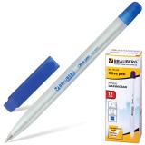 Ручка шариковая масляная BRAUBERG Olive Pen, корпус прозрачный, 0,7мм, линия 0,35мм, синяя, 141476
