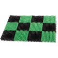 Коврик входной пластиковый грязезащитный, Травка, (55*41*1,8см), зеленый-черный, IDEA, М 2280