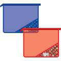Папка для тетрадей BRAUBERG (БРАУБЕРГ), А5, молния сверху, «Сubes» («Ромбы»), цветной уголок