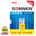 Батарейки SONNEN, AAA (LR03), комплект 2 шт., «Digital Power», СУПЕРАЛКАЛИН, в блистере, 1,5 В