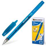 Ручка гелевая BRAUBERG Income, корпус тонированный, игольч. узел 0,5мм, линия 0,35мм, синяя, 141516
