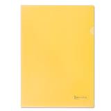 Папка-уголок жесткая BRAUBERG желтая 0,15мм, 223968