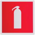 Знак пожарной безопасности «Огнетушитель», 200-200 мм, самоклейка, фотолюминесцентный