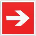 Знак пожарной безопасности «Направляющая стрелка», 200-200 мм, самоклейка, фотолюминесцентный
