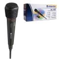 Микрофон беспроводной DEFENDER MIC-142, радиус действия до 15 м, 72 дБ, черный