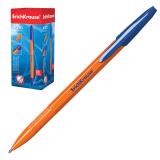 """Ручка шариковая ERICH KRAUSE """"R-301"""", корпус оранжевый, узел 0,7 мм, линия 0,35 мм, синяя, 43194"""
