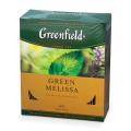 Чай GREENFIELD «Green Melissa», зеленый, с мятой, 100 пакетиков в конвертах по 1,5 г