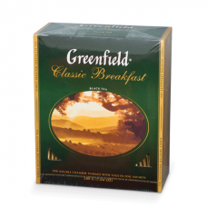 Чай GREENFIELD «Classiс Breakfast», черный, 100 пакетиков в конвертах по 2 г