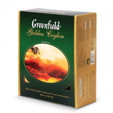 """Чай GREENFIELD (Гринфилд) """"Golden Ceylon"""", черный, 100 пакетиков в конвертах по 2 г, 0581"""