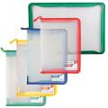 Папка на молнии пластиковая BRAUBERG (БРАУБЕРГ), А4, 325-230 мм, прозрачная, молния, ассорти